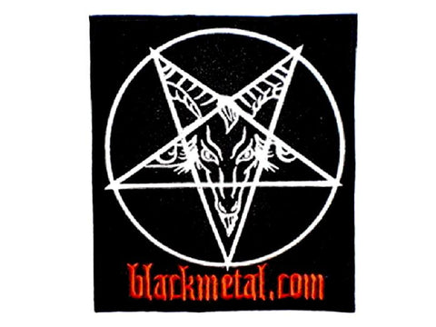 "Baphomet Black Metal Big Embroidered Back Patch 8.4""/21.5cm"