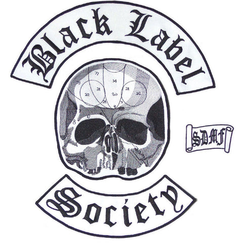 Black Label Society BLS 4 Piece Set XL Embroidered Vest Back Patch