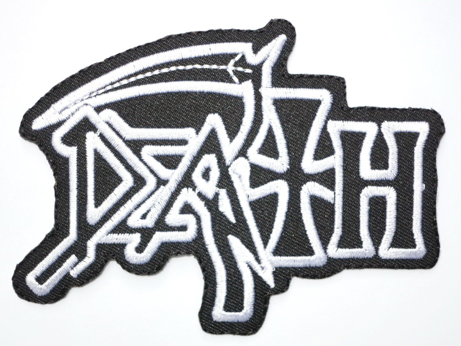 "DEATH Iron On Sew On Embroidered Metal Patch 4.1""/8.4cm - A Patch E Store"