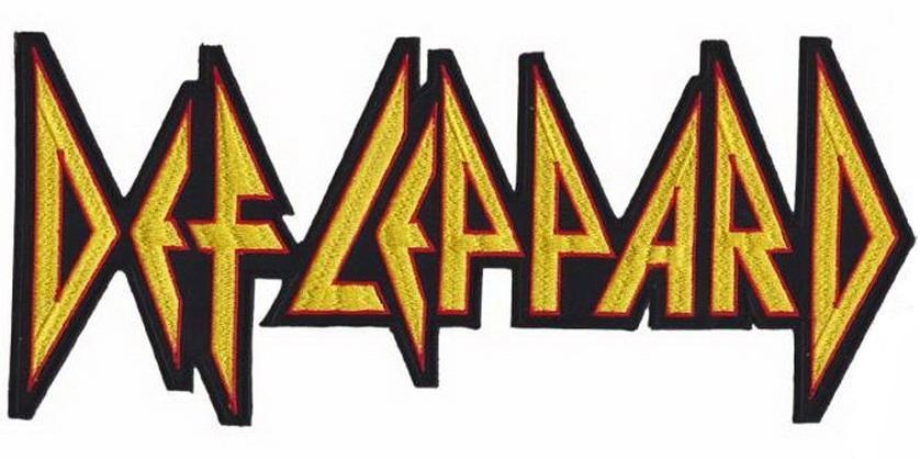 "DEF LEPPARD Cut Out Logo Big XL Jacket Back Patch 11.5""/29cm - A Patch E Store"