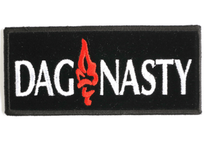 "DAGNASTY Logo Hardcore Sew On Embroidered Patch 4.4""/11.2cm - A Patch E Store"