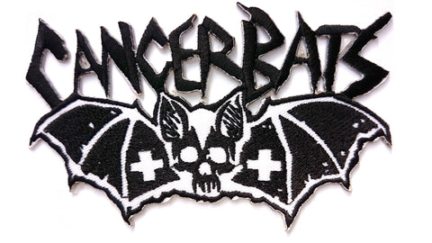 "CANCER BATS Iron On Sew On Embroidered Patch 4.5""/12cm - A Patch E Store"