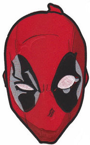 "DEADPOOL Mask Embroidered Giant XL Back Patch 10.2""/26cm - A Patch E Store"