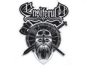 "ENSIFERUM Viking Shield Big Embroidered Back Patch 10.2""/26cm - A Patch E Store"
