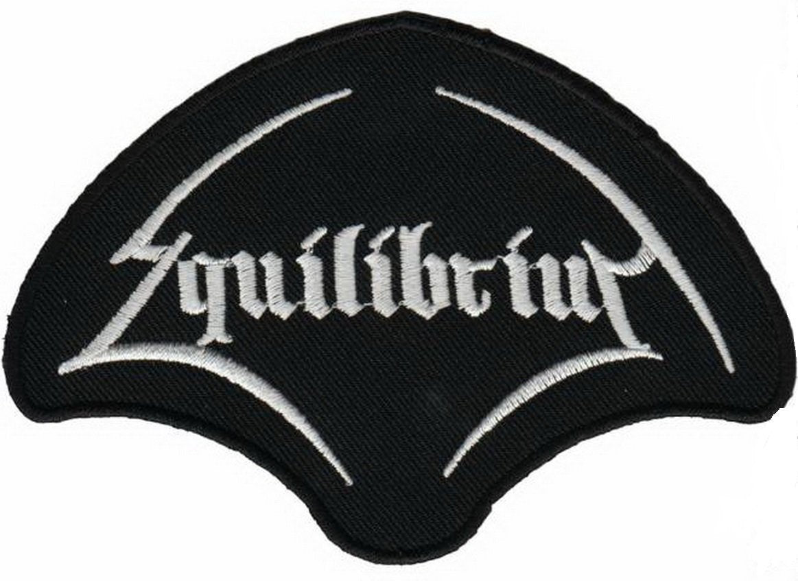 "EQUILIBRIUM Logo Iron On Sew On Embroidered Patch 4.4""/11cm - A Patch E Store"
