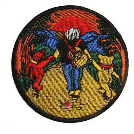 "Grateful Dead Garcia Bears Sew On Embroidered Patch 3.1""/7.8cm - A Patch E Store"