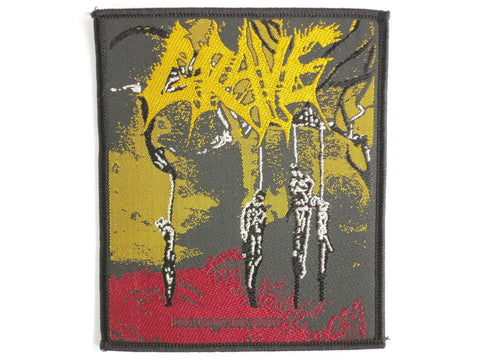 GRAVE Hang Man Death Metal Sew On Woven Patch - A Patch E Store
