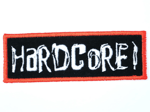 "HARDCORE Punk Thrash Logo Sew On Embroidered Patch 4.2""/10.8cm - A Patch E Store"