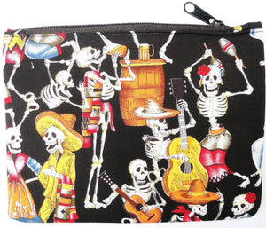 Day Of The Dead Rockabilly Cosmetic Make Up Bag Purse Case - A Patch E Store