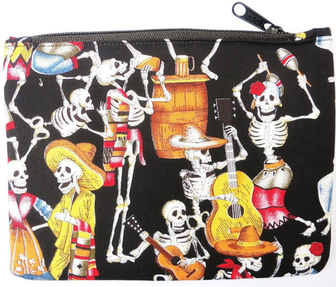 Day Of The Dead Rockabilly Cosmetic Make Up Bag Purse Case