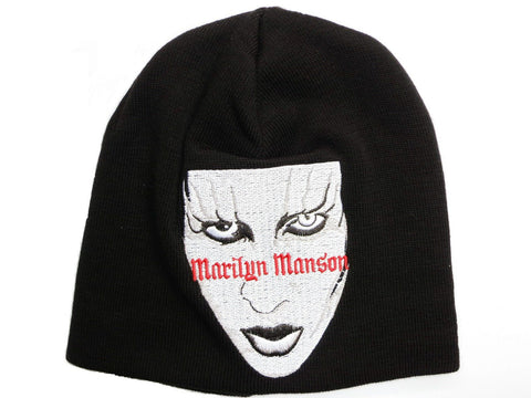 MARILYN MANSON Face Winter Wool Beanie Hat - A Patch E Store