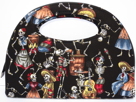 Day Of The Dead Rockabilly Handbag Clutch Bag Purse - A Patch E Store