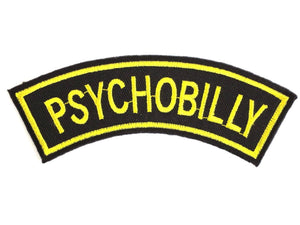 "PSYCHOBILLY Rockabilly Iron On Sew On Embroidered Patch 4.2""/11cm - A Patch E Store"