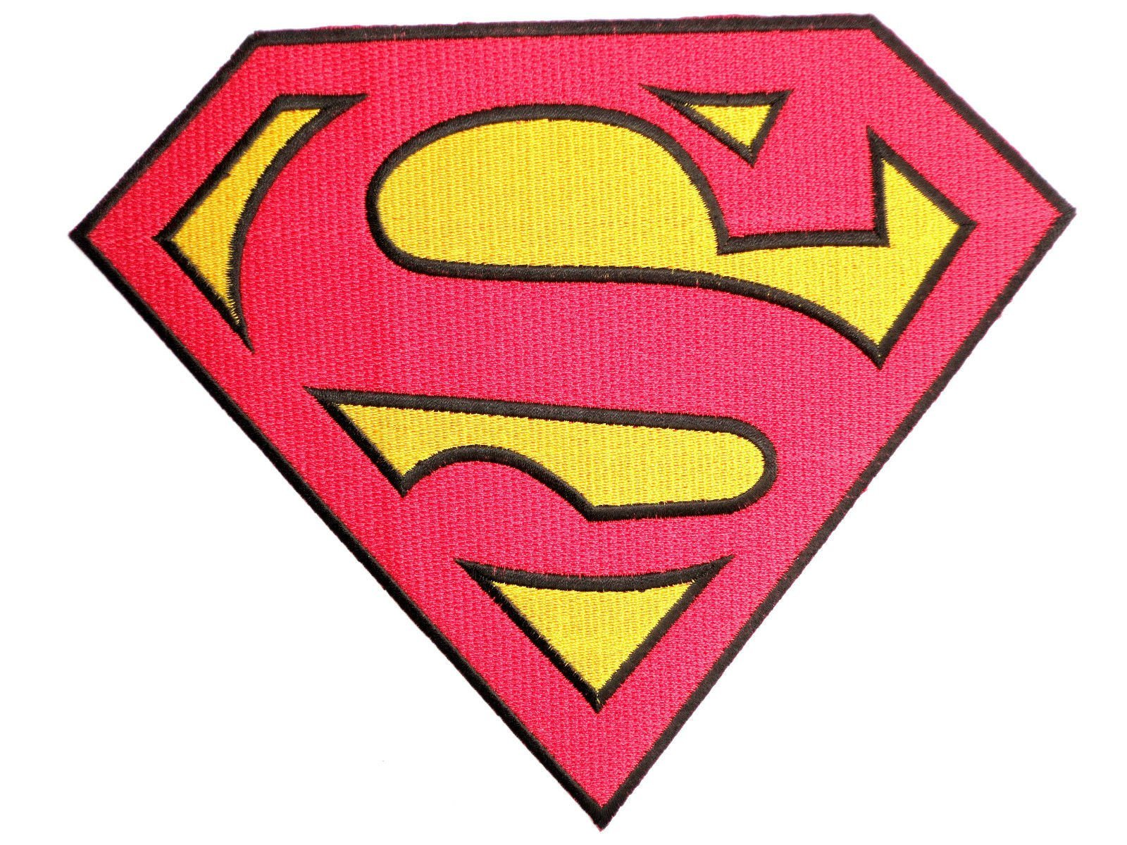 "SUPERMAN Fancy Dress Big Embroidered Chest Back Patch 8""/20cm - A Patch E Store"