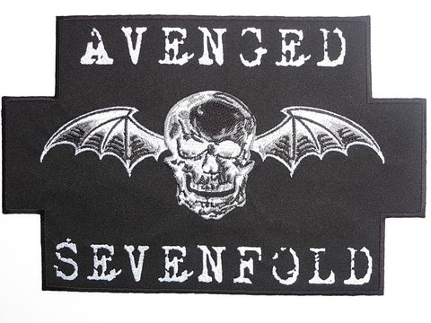 "AVENGED SEVENFOLD Skull Bat Big Embroidered Back Patch 9.4""/23cm"