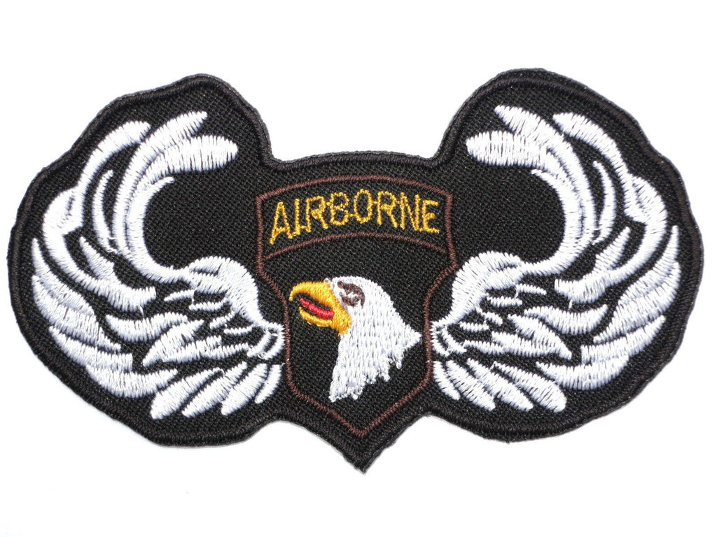 "AIRBORNE 101st U.S Army Eagle Embroidered Iron On Patch 3.9""/9.8cm - A Patch E Store"