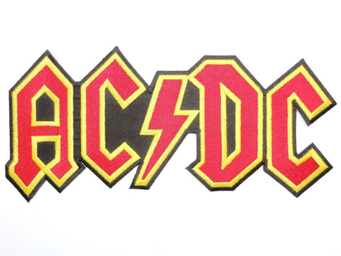 "ACDC AC/DC Cut Out Logo Embroidered Big Back Patch 9.6""/24.5cm"