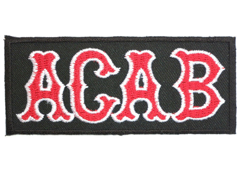 "ACAB Skins Ultras Biker Iron On Embroidered Patch 3.5""/8.8cm"