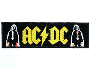 "ACDC AC/DC Sew On Embroidered Strip Patch 5.1""/13cm - A Patch E Store"