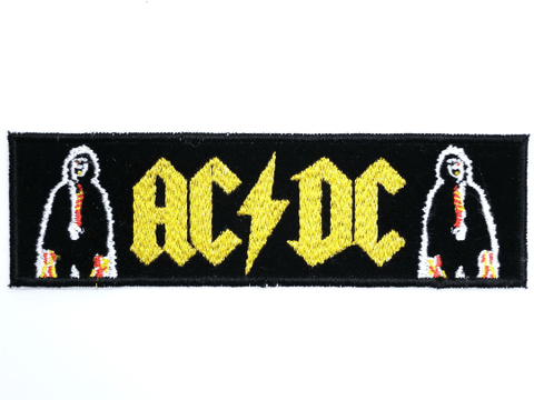 "ACDC AC/DC Sew On Embroidered Strip Patch 5.1""/13cm"