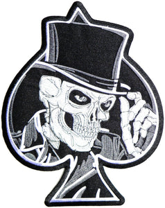 "Ace Of Spades Top Hat Reaper Skull Big XL Jacket Back Patch 11"" - A Patch E Store"