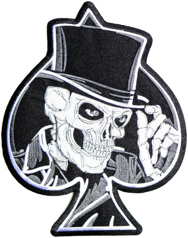 Ace Of Spades Top Hat Reaper Skull Big XL Jacket Back Patch 11""
