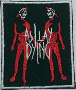 "AS I LAY DYING Skeleton Twins Iron On Sew On Embroidered Patch 3""/7.5cm - A Patch E Store"