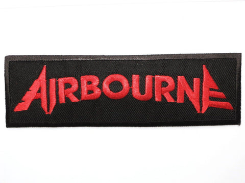 "AIRBOURNE Red Logo Iron On Sew On Embroidered Patch 4.5""/12cm"