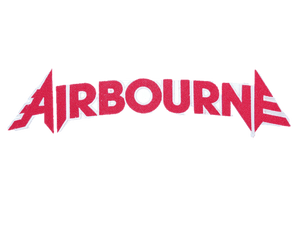 "AIRBOURNE Red Cut Out Logo Big Embroidered Back Patch 12.5""/32cm - A Patch E Store"