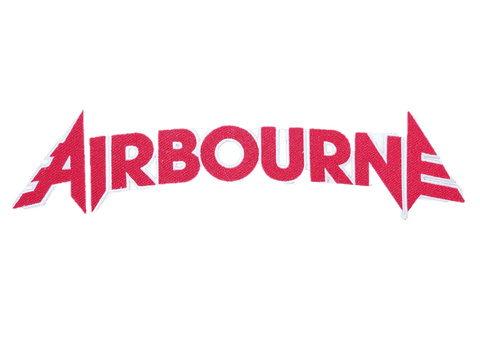 "AIRBOURNE Red Cut Out Logo Big Embroidered Back Patch 12.5""/32cm"