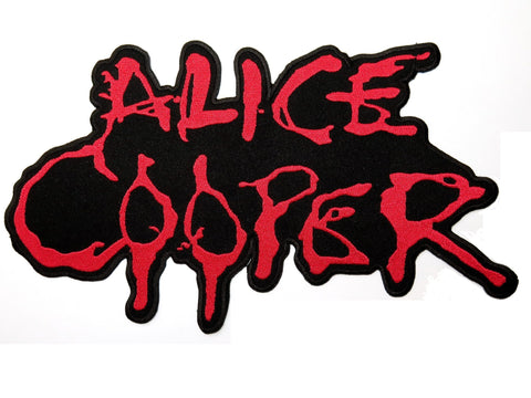 "ALICE COOPER Drip Logo Big Embroidered Back Patch 10.8""/27cm"