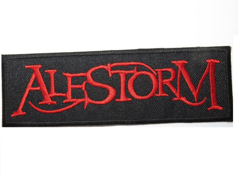 "ALESTORM Red Logo Iron On Sew On Embroidered Patch 4.9""/12.5cm"