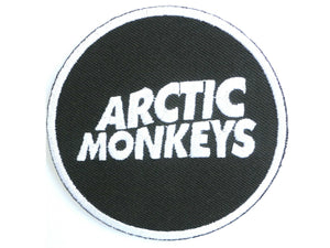 "ARCTIC MONKEYS Round Logo Iron On Embroidered Patch 2.9""/7.4cm - A Patch E Store"