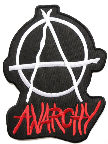 "ANARCHY Punk Rock Embroidered Iron On Big Back Patch 8""/20.5cm - A Patch E Store"