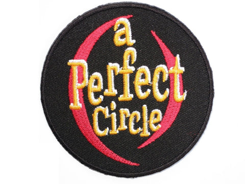 "A PERFECT CIRCLE Iron On Sew On Embroidered Patch 3""/7.8cm"