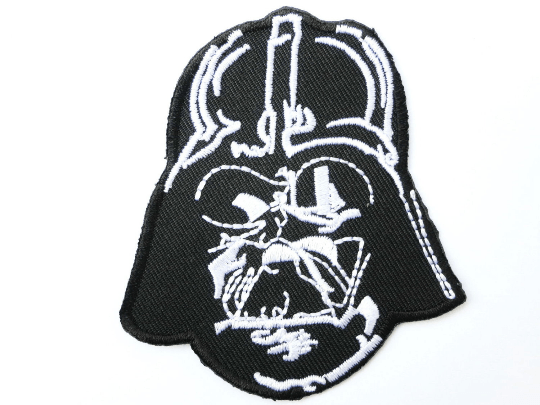 "Darth Vader Mask STAR WARS Iron On Embroidered Patch 3.1""/7.8cm - A Patch E Store"