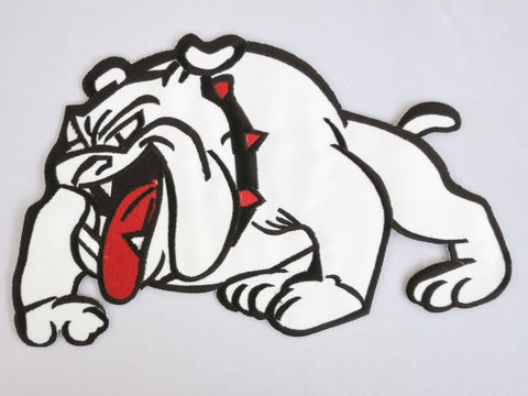 "BRITISH BULLDOG Iron On Embroidered Big Back Patch 9.7""/24cm - A Patch E Store"