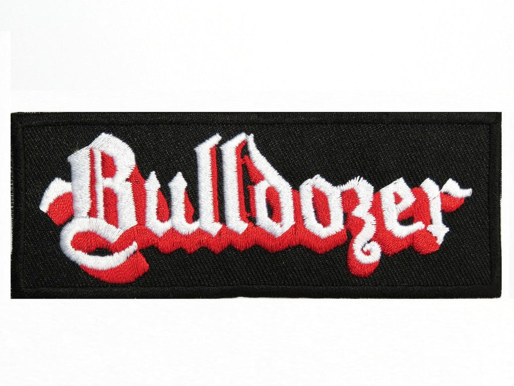 "BULLDOZER Iron On Thrash Black Metal Embroidered Patch 4.1""/10cm - A Patch E Store"
