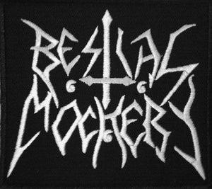 "BESTIAL MOCKERY Sons Of Satan Iron On Embroidered Patch 3.2""/8.4cm - A Patch E Store"