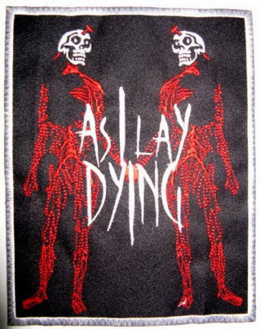 "AS I LAY DYING Skelly Lovers Embroidered Big Back Patch 9""/22.8cm"