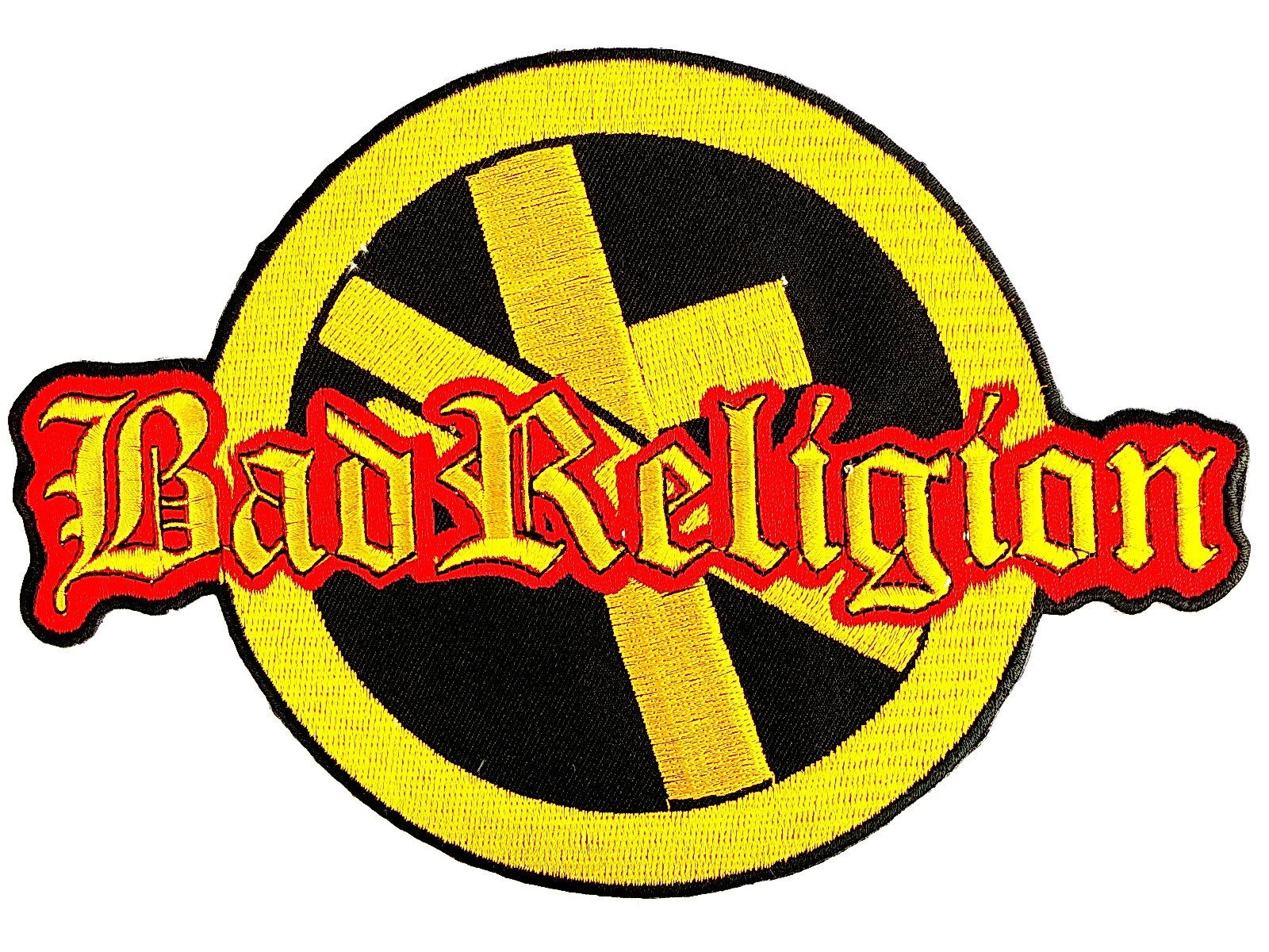 "BAD RELIGION Anti Cross Big Embroidered Back Patch 8.5""/21.5cm - A Patch E Store"