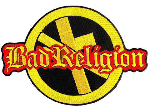 "BAD RELIGION Anti Cross Big Embroidered Back Patch 8.5""/21.5cm"