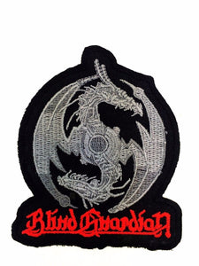"BLIND GUARDIAN Iron On Embroidered Cut Out Patch 3.5""/9 - A Patch E Store"