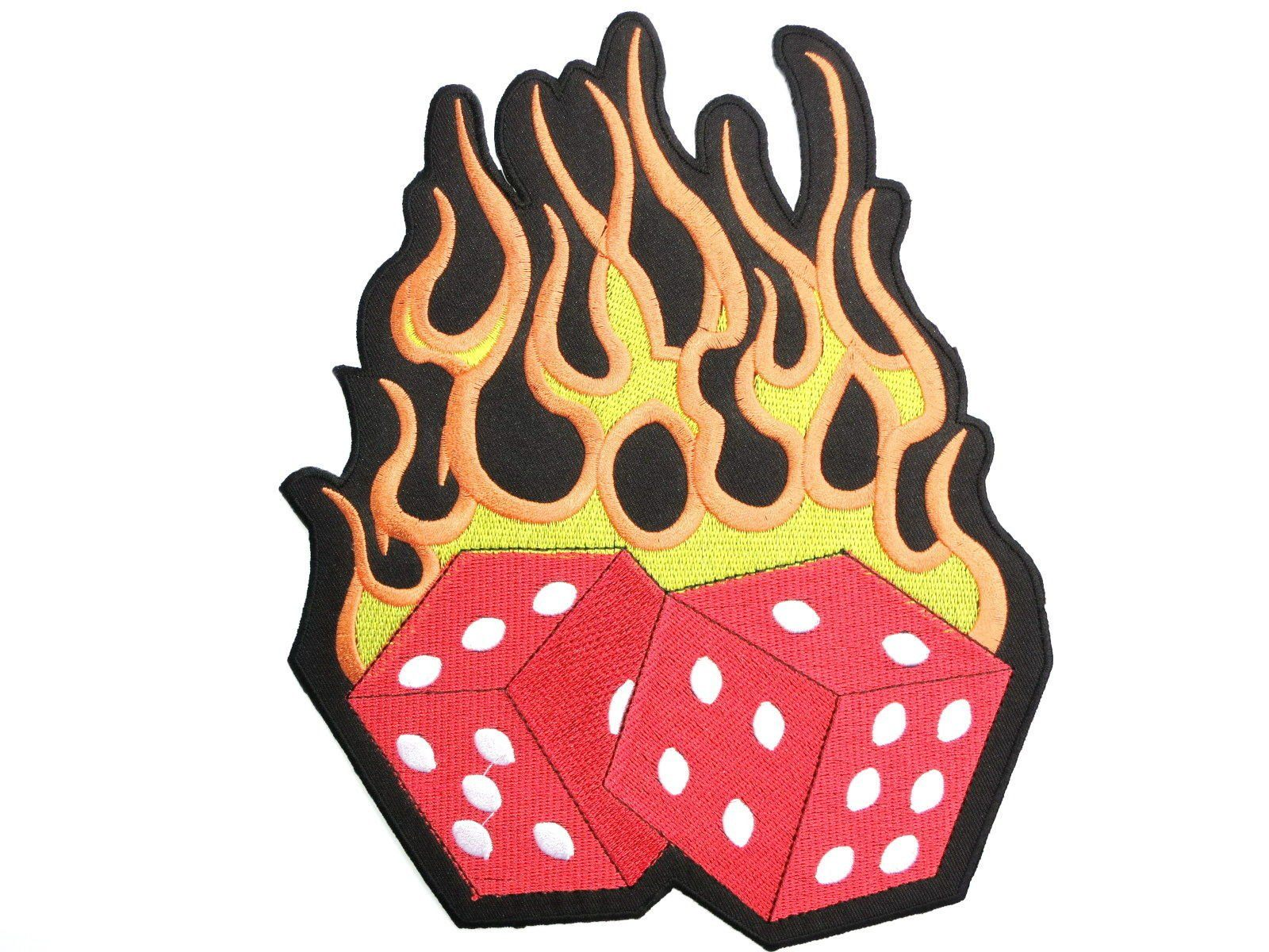"HOT LUCKY DICE Rockabilly Big Embroidered Back Patch 8.9""/22cm - A Patch E Store"