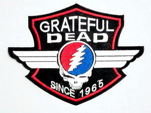 "GRATEFUL DEAD Skull Shield Big Embroidered Back Patch 7.9""/20cm - A Patch E Store"