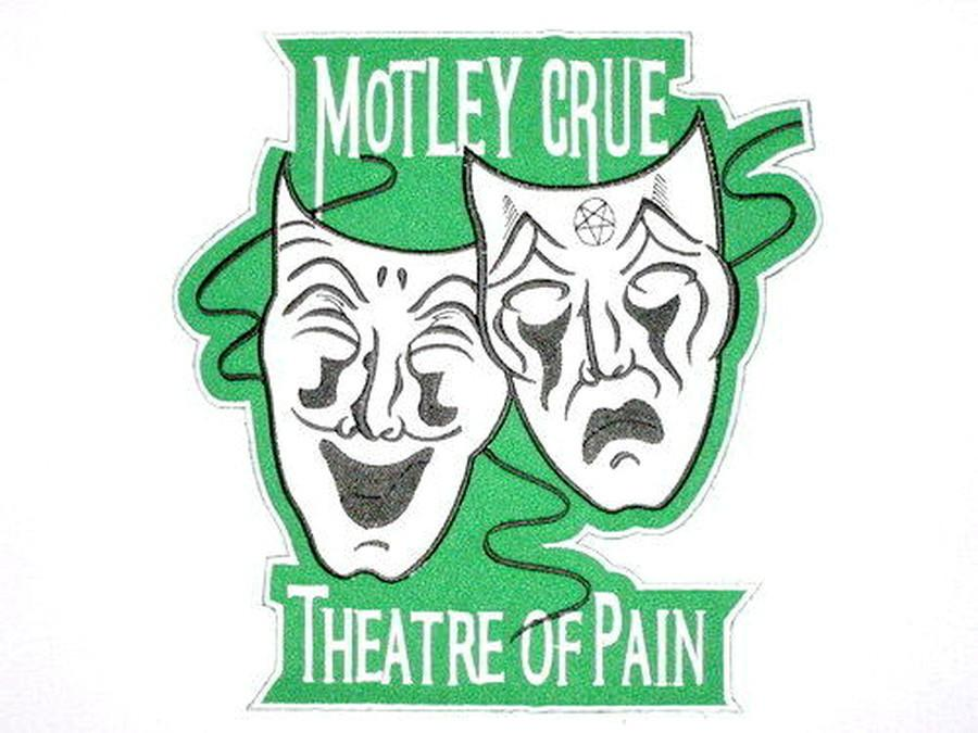 "MOTLEY CRUE Theatre Of Pain Big Embroidered Back Patch 8.6""/22cm - A Patch E Store"