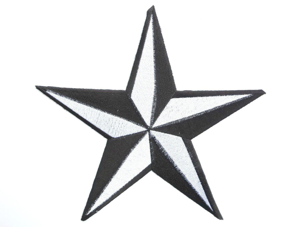 "NAUTICAL STAR Rockabilly Embroidered Big Back Patch 9.7""/25cm - A Patch E Store"