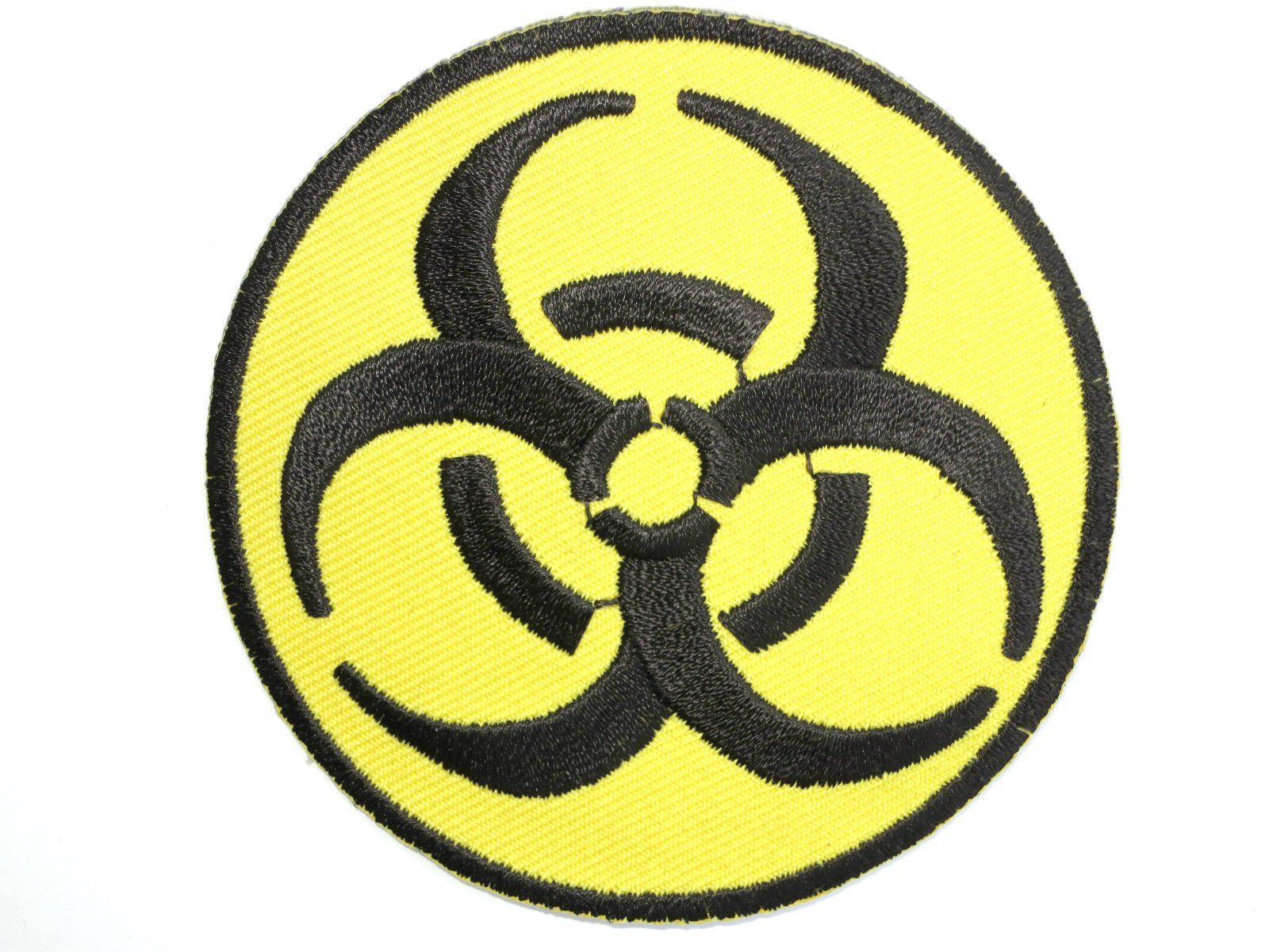 "BIOHAZARD Zombie Warning Evil Iron On Embroidered Patch 3""/7.5cm - A Patch E Store"
