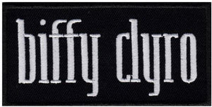 "BIFFY CLYRO Logo Embroidered Patch 4""/10cm - A Patch E Store"