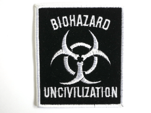 "BIOHAZARD Uncivilization Sew On Embroidered Patch  3.1""/8cm - A Patch E Store"